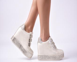 Дамски обувки на платформа еко кожа бежови CDVI-1010009
