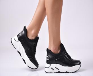 Дамски обувки на платформа еко кожа черни JZER-1010030