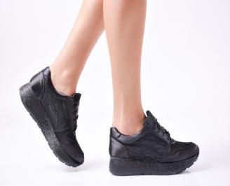 Дамски  обувки  на платформа еко кожа/сатен черни AWDZ-1010032