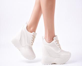 Дамски  обувки  на платформа еко кожа бежови LTCS-1010039