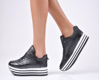 Дамски обувки на платформа еко кожа черни XEHX-1010296