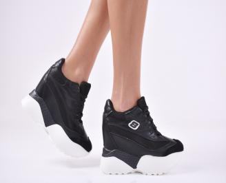 Дамски обувки на платформа еко кожа черни NWYJ-1011095