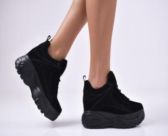 Дамски обувки на платформа  черни JELB-1012768