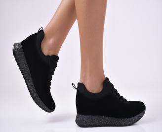 Дамски обувки на платформа  черни YGGA-1012769