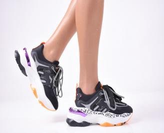 Дамски обувки на платформа черни EESN-1013255