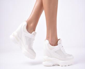 Дамски обувки на платформа бели OBXK-1013258