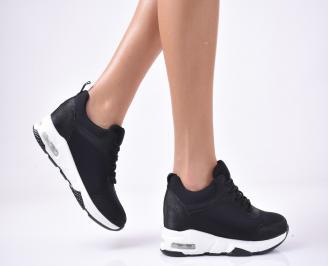Дамски обувки на платформа черни HUPU-1013262