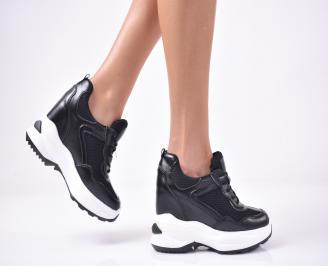 Дамски обувки на платформа черни KVBJ-1013266