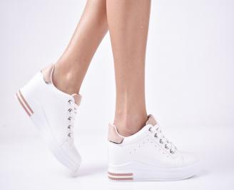 Дамски обувки на платформа бели XCAM-1013267