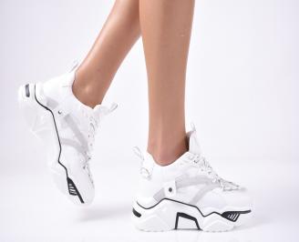 Дамски обувки на платформа бели LRRG-1013268