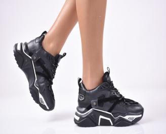 Дамски обувки на платформа черни PEAQ-1013269