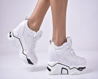 Дамски обувки на платформа бели SSMB-1013276
