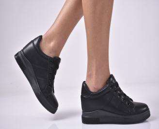 Дамски обувки на платформа черни DFJO-1013279
