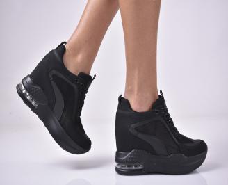 Дамски обувки на платформа черни RIYV-1013281