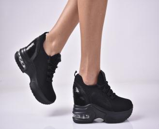 Дамски обувки на платформа черни WLZR-1013282