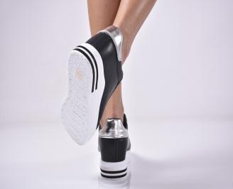 Дамски обувки на платформа черни MTFJ-1013287