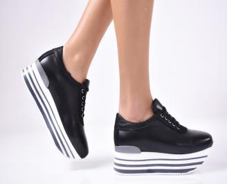 Дамски обувки на платформа черни JIRS-1013303