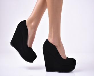 Дамски  обувки на платформа  черни RZRM-1013516