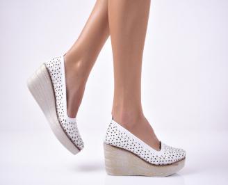 Дамски  обувки  на платформа бели WMLC-1013527