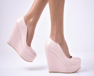 Дамски  обувки на платформа  пудра GWNL-1013535