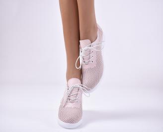 Дамски обувки на платформа еко кожа пудра CCBI-1013745