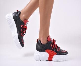 Дамски обувки на платформа  черни. WYWJ-1013899
