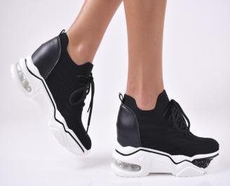 Дамски обувки на платформа текстил бели JNXA-1013961