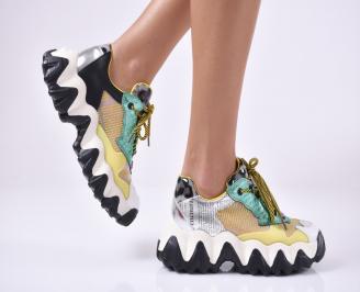 Дамски обувки на платформа текстил шарени WHNZ-1013962