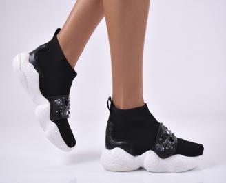 Дамски обувки на платформа черни OBTA-1014169