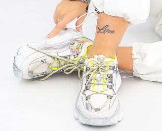 Дамски обувки на платформа бели YOBC-1014615