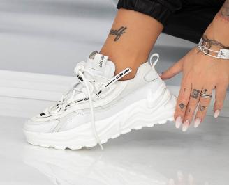 Дамски обувки на платформа бели WEBV-1014617