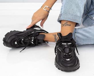 Дамски обувки на платформа черни YTQF-1014618