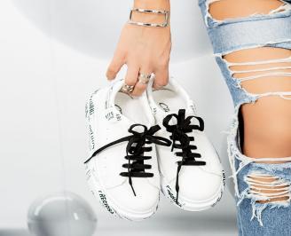 Дамски обувки на платформа бели LMLI-1014629