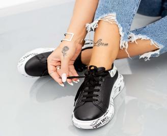 Дамски обувки на платформа черни DDUI-1014630