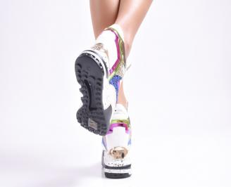 Дамски обувки  на платформа еко кожа / пайети шарени SXSR-25008