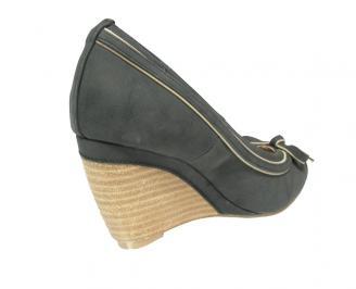 Дамски  обувки на платформа еко кожа черни YTDO-12797