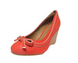 Дамски  обувки на платформа еко кожа червени HIFM-12798