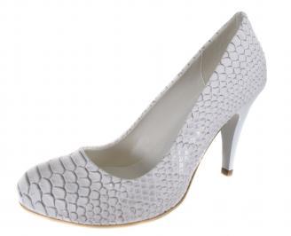 Дамски обувки на ток бели еко кожа MXAT-19010