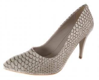 Дамски обувки на ток бежови еко кожа EEXA-18994