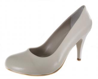 Дамски обувки на ток бежови еко кожа WPQD-19004