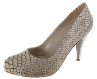 Дамски обувки на ток бежови еко кожа ZPOK-19011