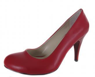 Дамски обувки на ток червени еко кожа WCJK-18991