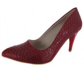 Дамски  обувки на ток червени еко кожа QVGK-18996