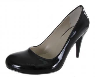 Дамски обувки на ток черни еко кожа/лак FTAZ-19008