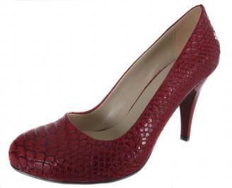 Дамски обувки на ток червени еко кожа YPPX-19012