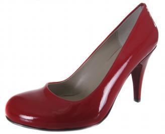 Дамски обувки на ток червени еко кожа/лак ENOU-19015