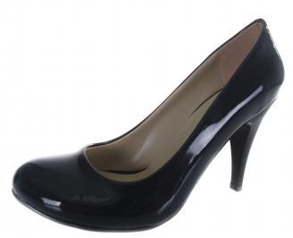 Дамски обувки на ток еко кожа/лак тъмно сини TAXM-19620