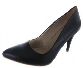 Дамски обувки на ток еко кожа тъмно сини QMET-19622