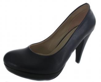 Дамски обувки на ток еко кожа тъмно сини LIHU-19630