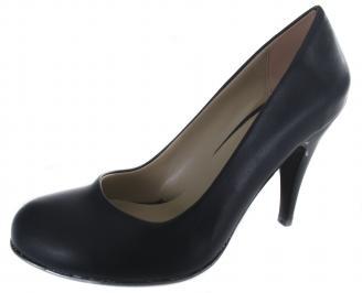 Дамски обувки на ток еко кожа тъмно сини TOSU-19636
